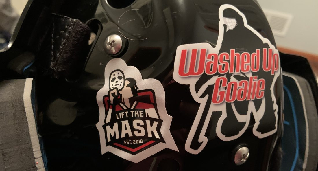 Washed Up Goalie Lift the Mask ambassador