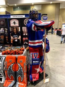Second String Let's Play Hockey Expo Booth